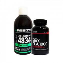 Max L-Carnitine 4834 + Max CLA - 25 doses + 120 gélules