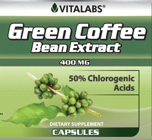Green Coffee Bean Extract 60 Caps Vitalabs Label